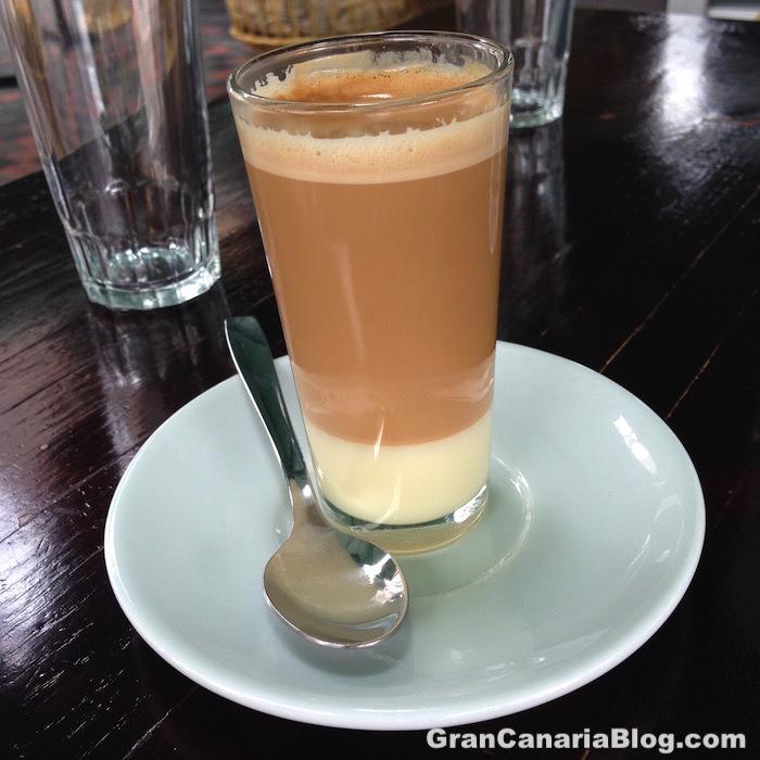 Leche leche coffee in Gran Canaria