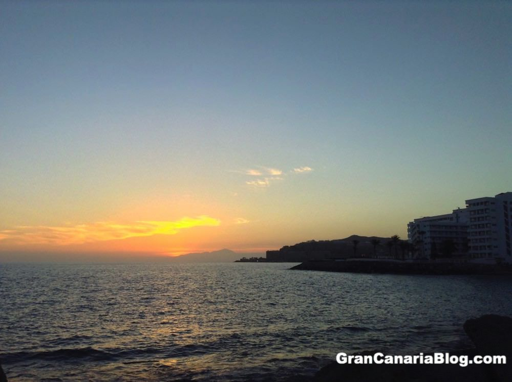 Mt Teide Sunset from Arguineguin Gran Canaria