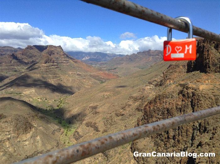 Padlocks of Love in Gran Canaria Degollada de las Yeguas