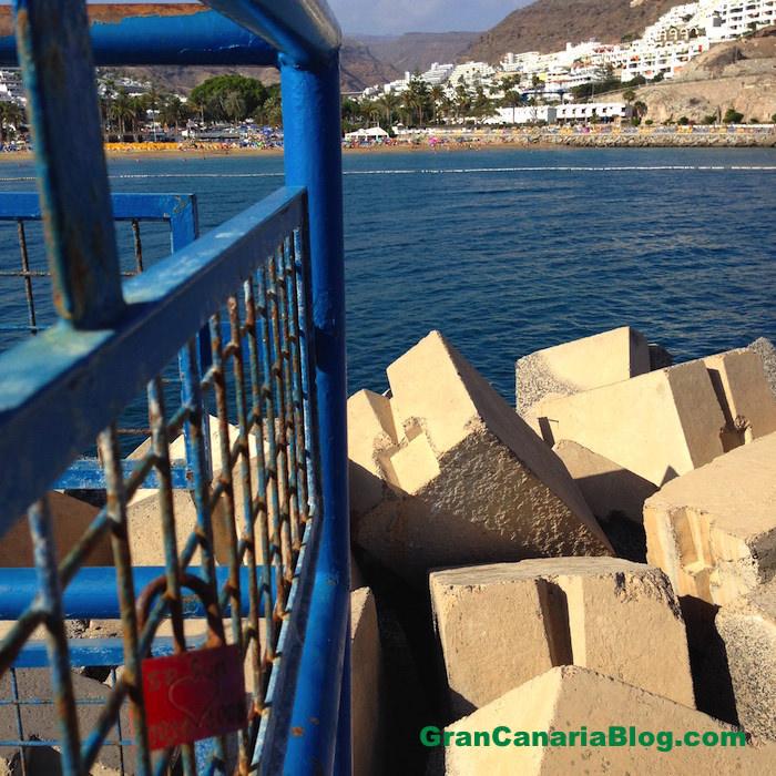 Padlocks of Love Gran Canaria Puerto Rico Beach