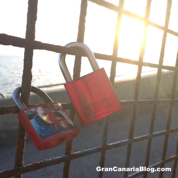 Padlocks of Love Gran Canaria Puerto Rico promenade walk