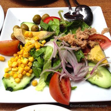 Mixed Salad at La Cabañita Park Restaurant Gran Canaria