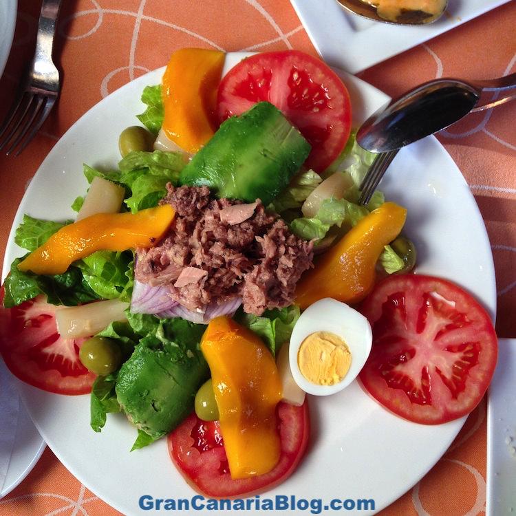 Restaurante Acaymo Mogan Gran Canaria - mixed salad