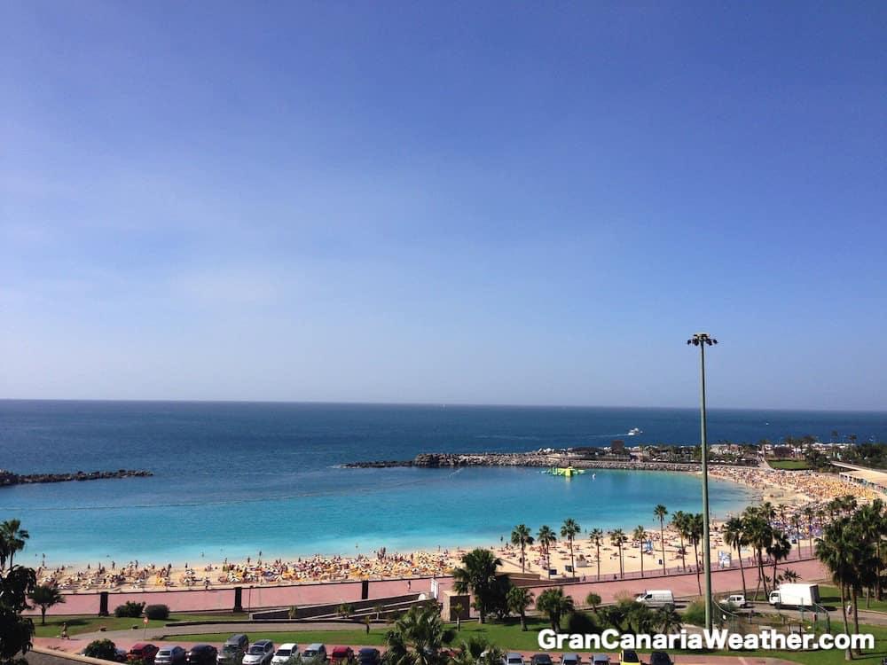 Gran Canaria Weather January Amadores Beach 2016