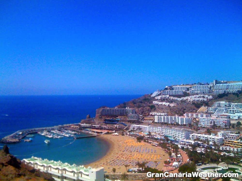 Gran Canaria Weather April Puerto Rico Beach 2011
