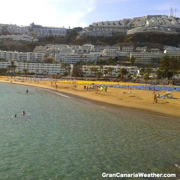 Gran Canaria Weather April Puerto Rico Beach 2012