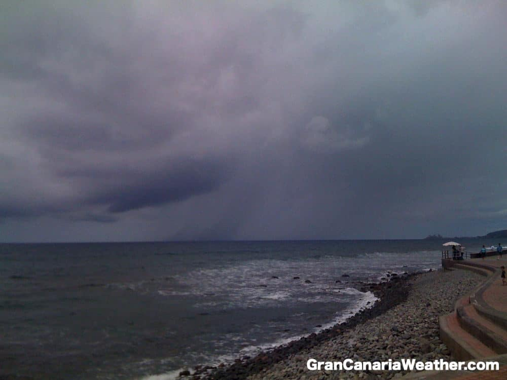 Gran Canaria Weather April Waterspout Forming in Meloneras 2011