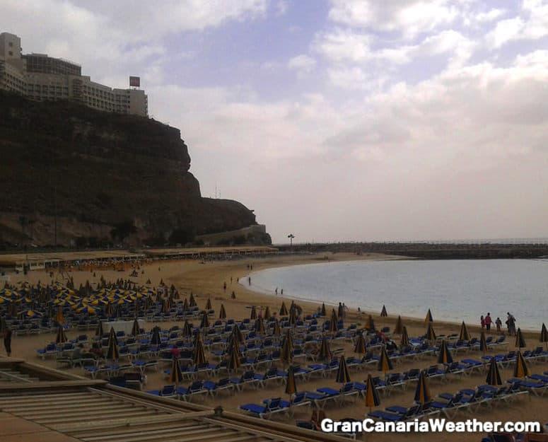 Gran Canaria Weather January Amadores Beach 2012