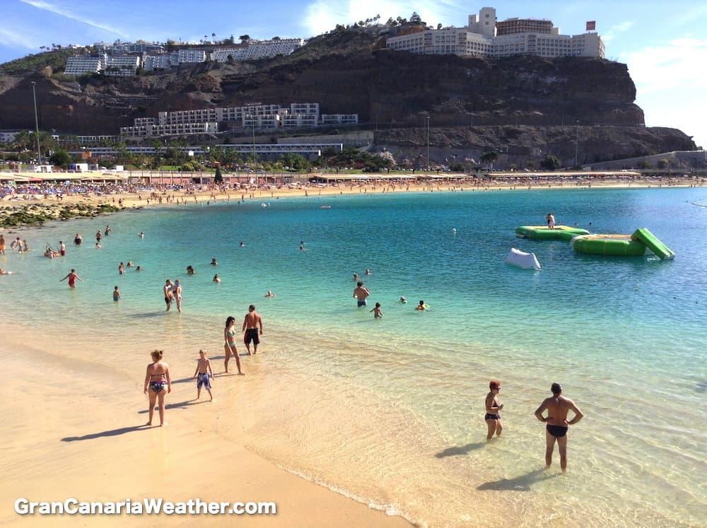 Gran Canaria Weather January Amadores Beach 2014