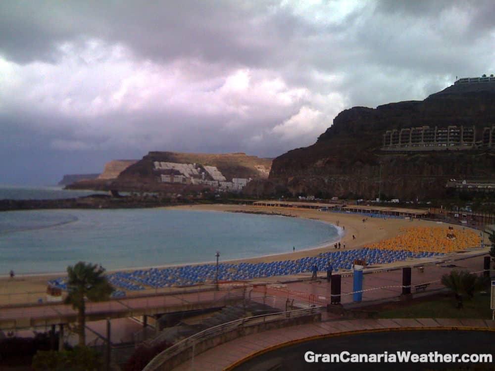 Gran Canaria Weather January Amadores Beach Storm 2011