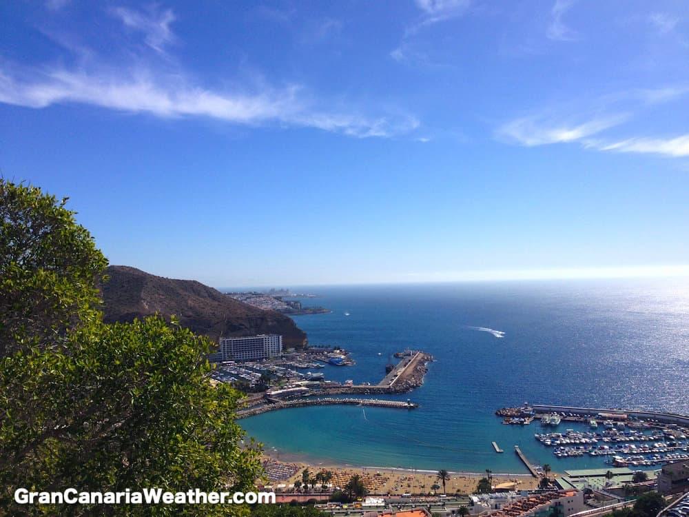 Gran Canaria Weather January Puerto Rico Costa Mogan 2016