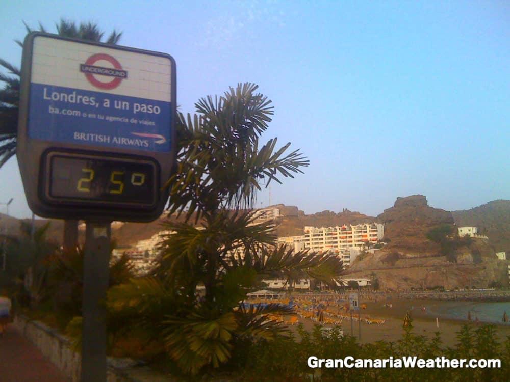 Gran Canaria Weather July Puerto Rico Beach 2011