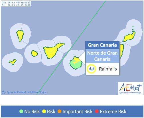 Gran Canaria Weather May Heavy Rain Warning 2016