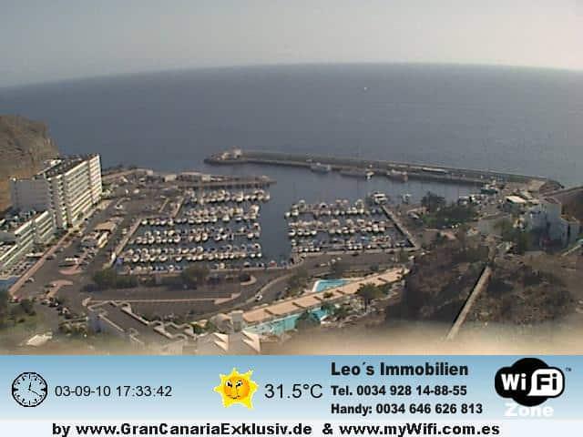 Gran Canaria Weather September Puerto Rico Webcam 2010
