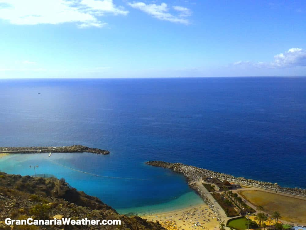 Gran Canaria Weather February Amadores Beach 2012