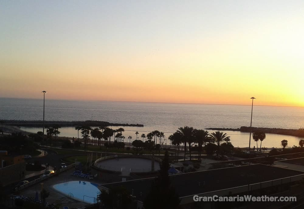 Gran Canaria Weather February Amadores Sunset 2012