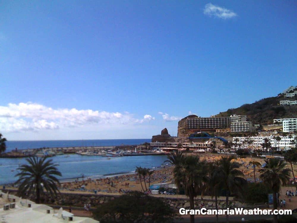 Gran Canaria Weather February Puerto Rico Beach 2011
