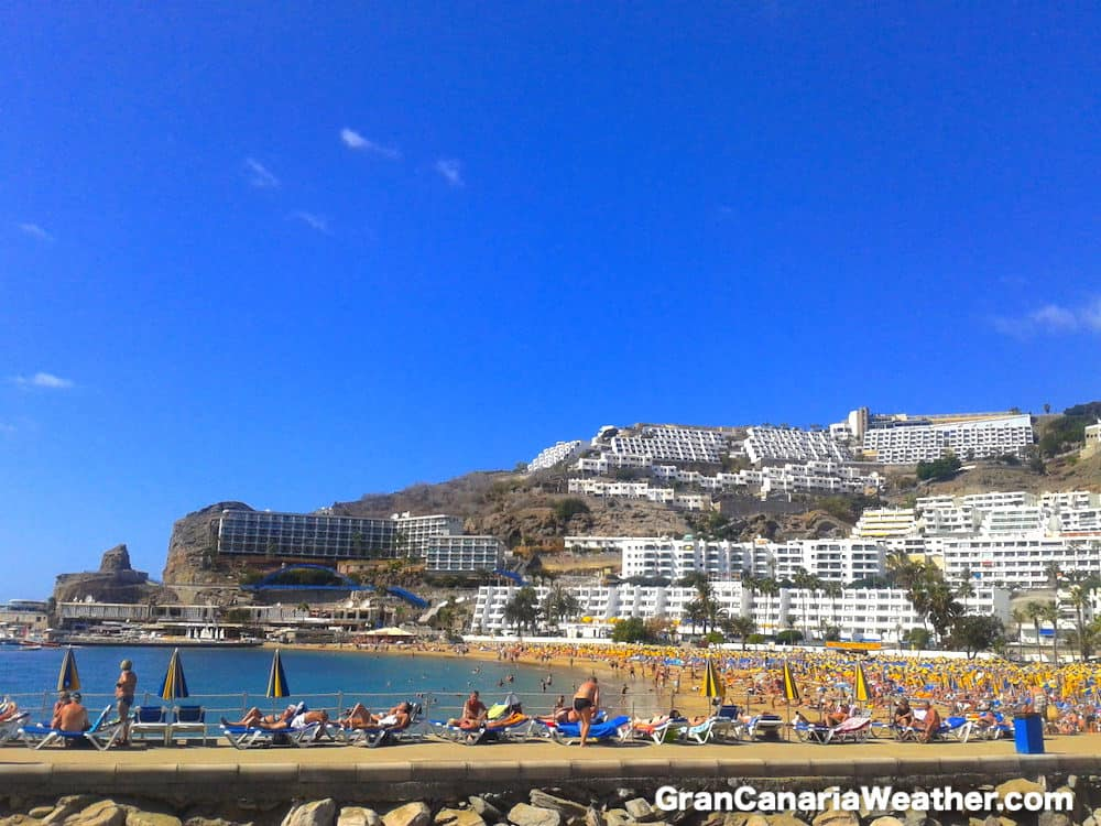 Gran Canaria Weather February Puerto Rico Beach 2012