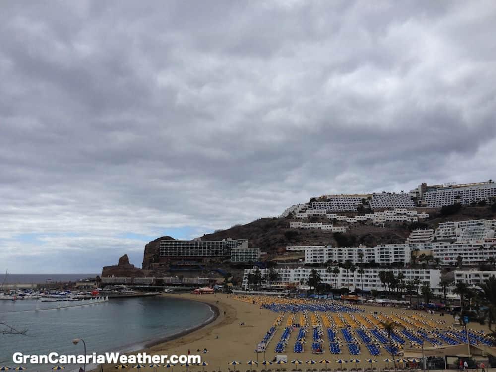 Gran Canaria Weather February Puerto Rico Beach 2015