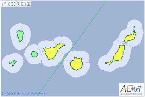 Gran Canaria Storm Warnings October 2018