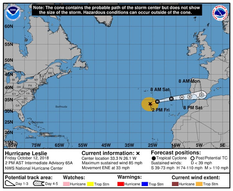 Hurricane Leslie Gran Canaria 2018