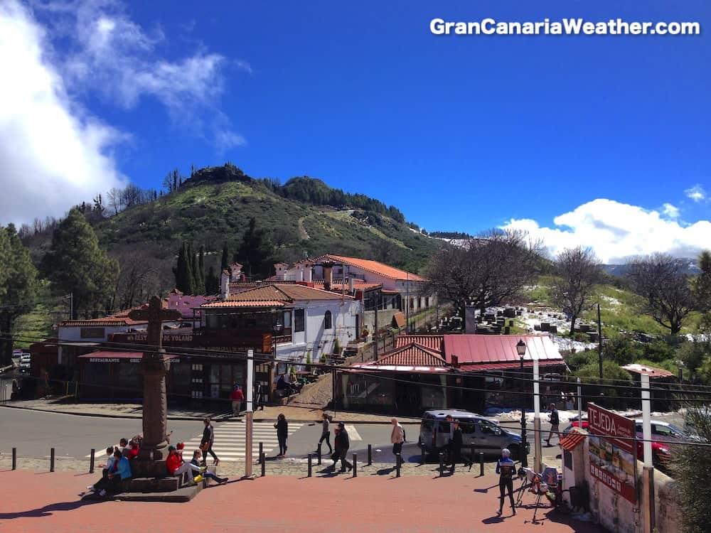 Gran Canaria Weather February Cruz de Tejeda Snow 2016