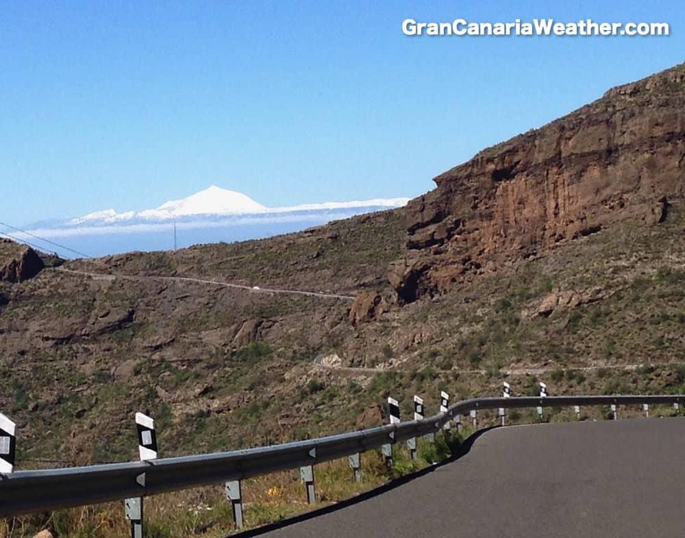 Gran Canaria Weather February Snow Mount Teide 2016