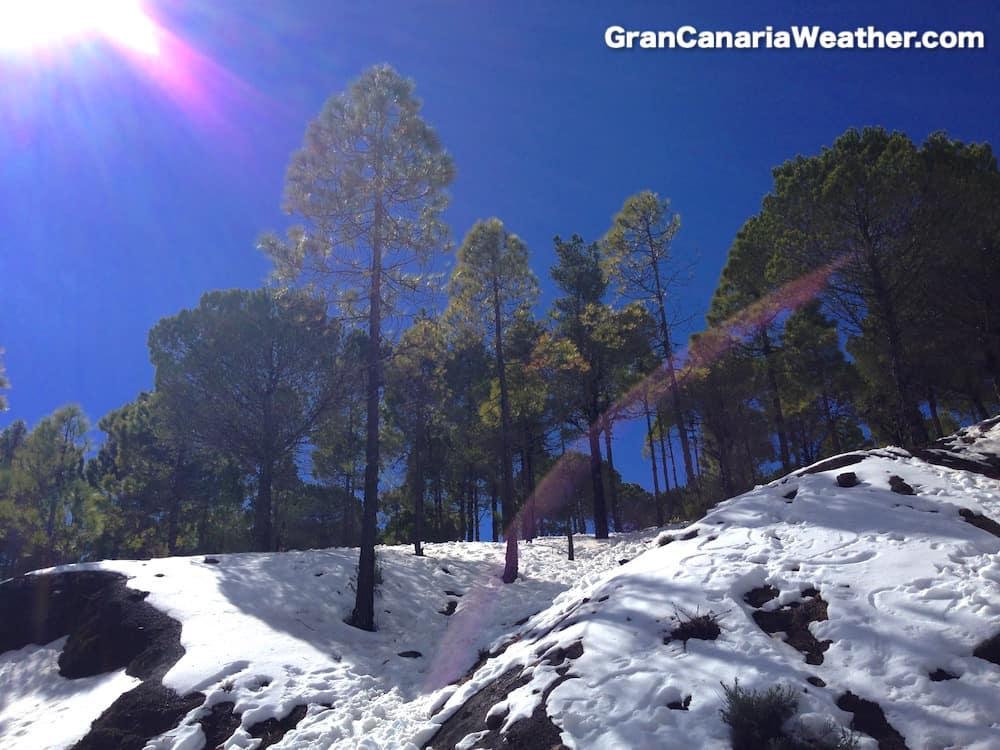 Gran Canaria Weather Snow February 2016