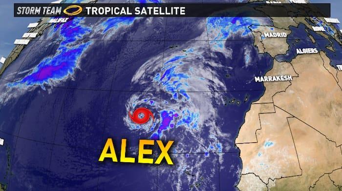 Gran Canaria Weather Tropical Storm Alex January 2016
