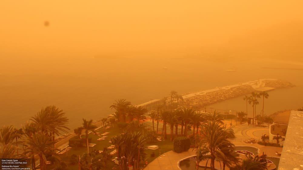 Gran Canaria Sandstorm Calima February 2020