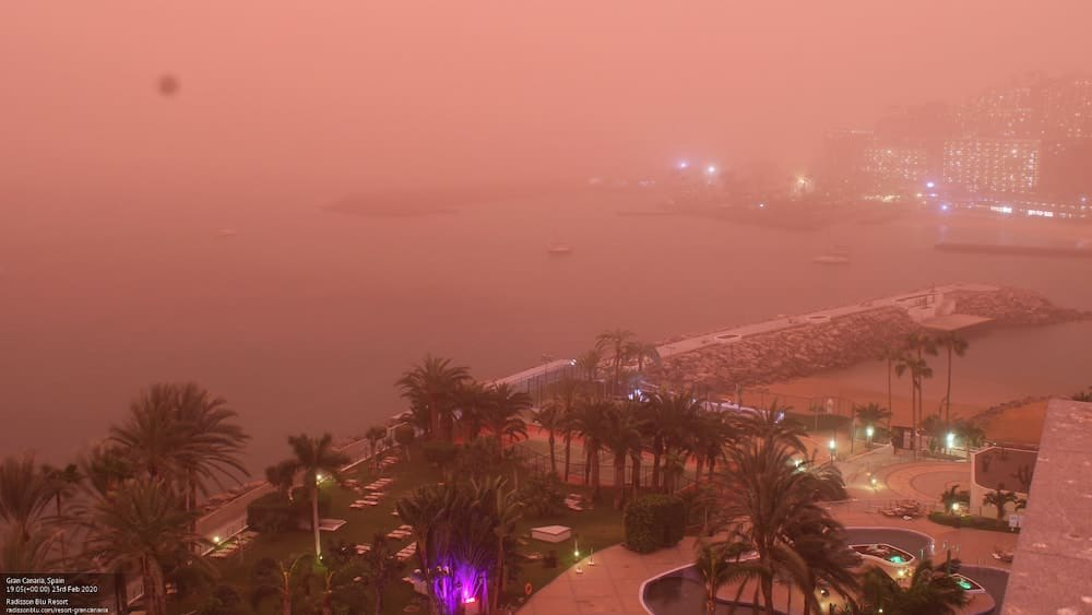 Gran Canaria Weather Calima Red Sky February 2020