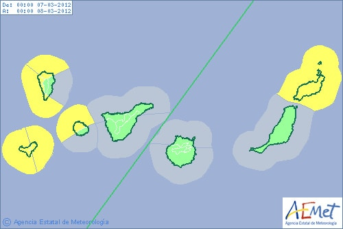 Gran Canaria Weather March Calima Warning 2012