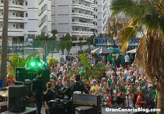 St Patricks Day Playa del Ingles Gran Canaria