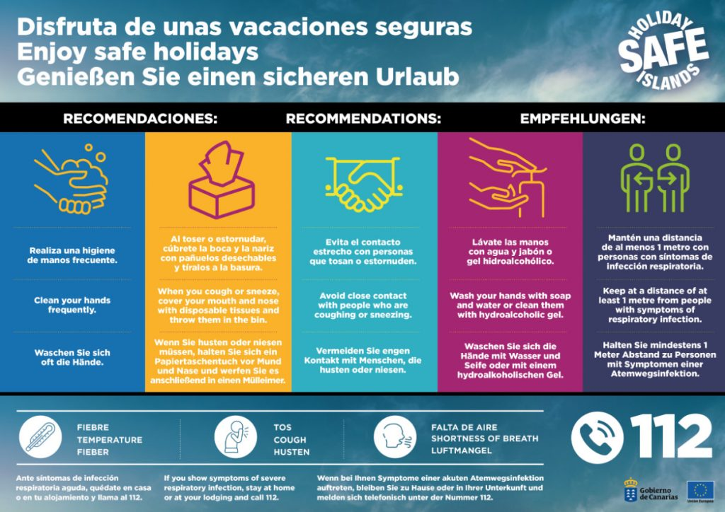 Gran Canaria Safe Holidays Coronavirus Advice COVID19 Canary Islands