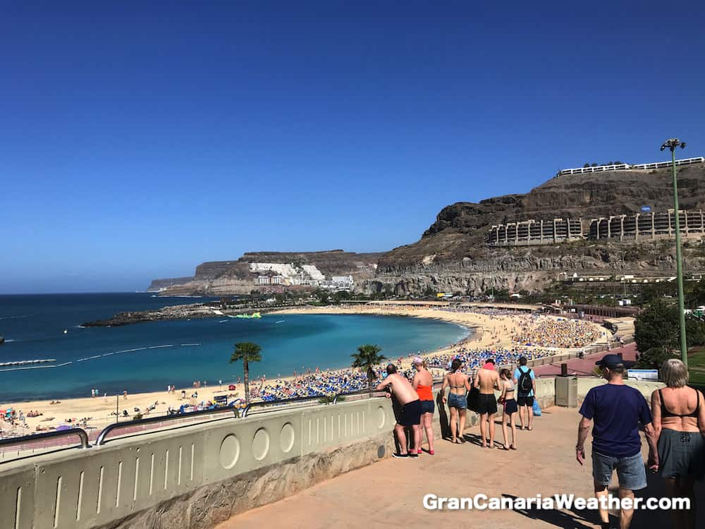 Gran Canaria Weather March Amadores beach promenade 2018