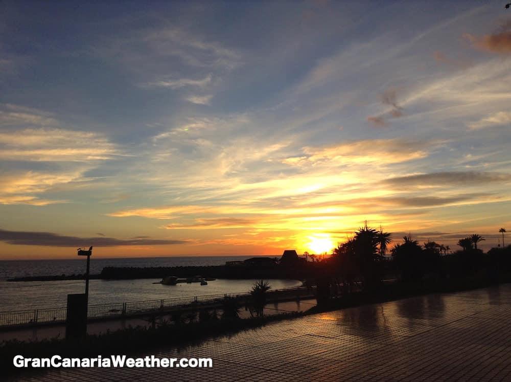 Gran Canaria Weather October Amadores Sunset 2015