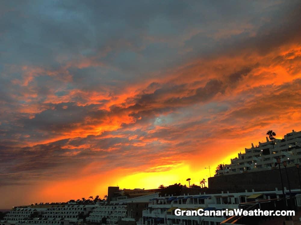 Gran Canaria Weather October Puerto Rico Sunset 2014