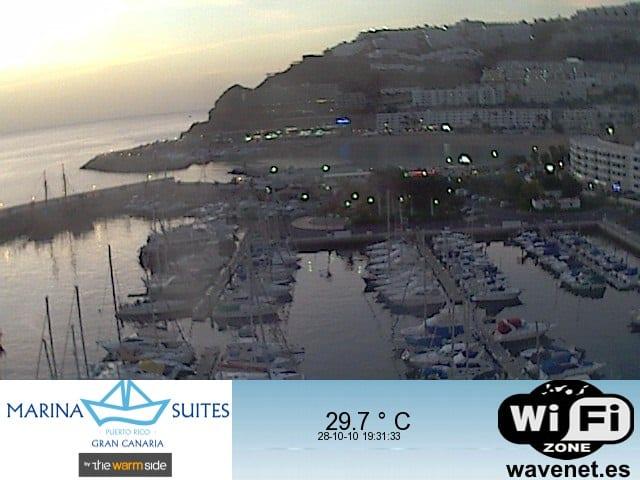Gran Canaria Weather October Puerto Rico Harbour Webcam 2010