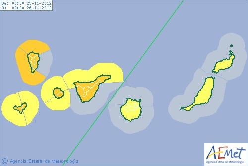 Gran Canaria Weather Warnings November 2012