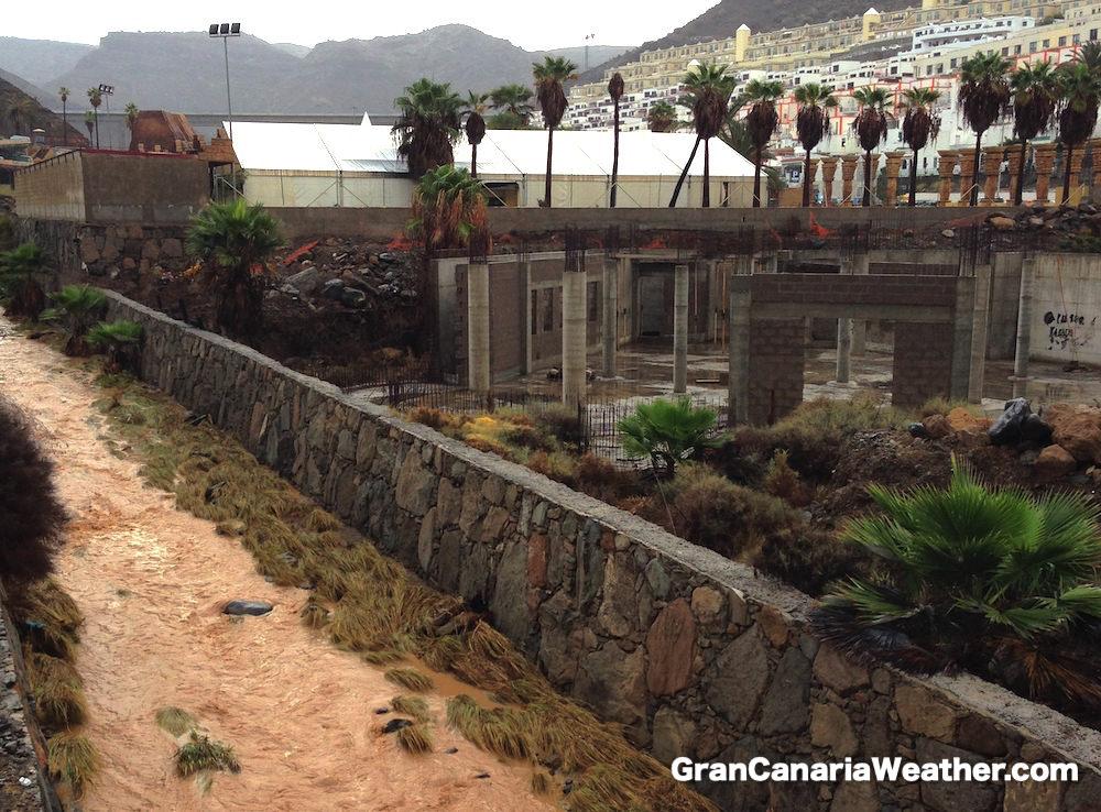 Gran Canaria Weather November Puerto Rico Barranco Flood 2015
