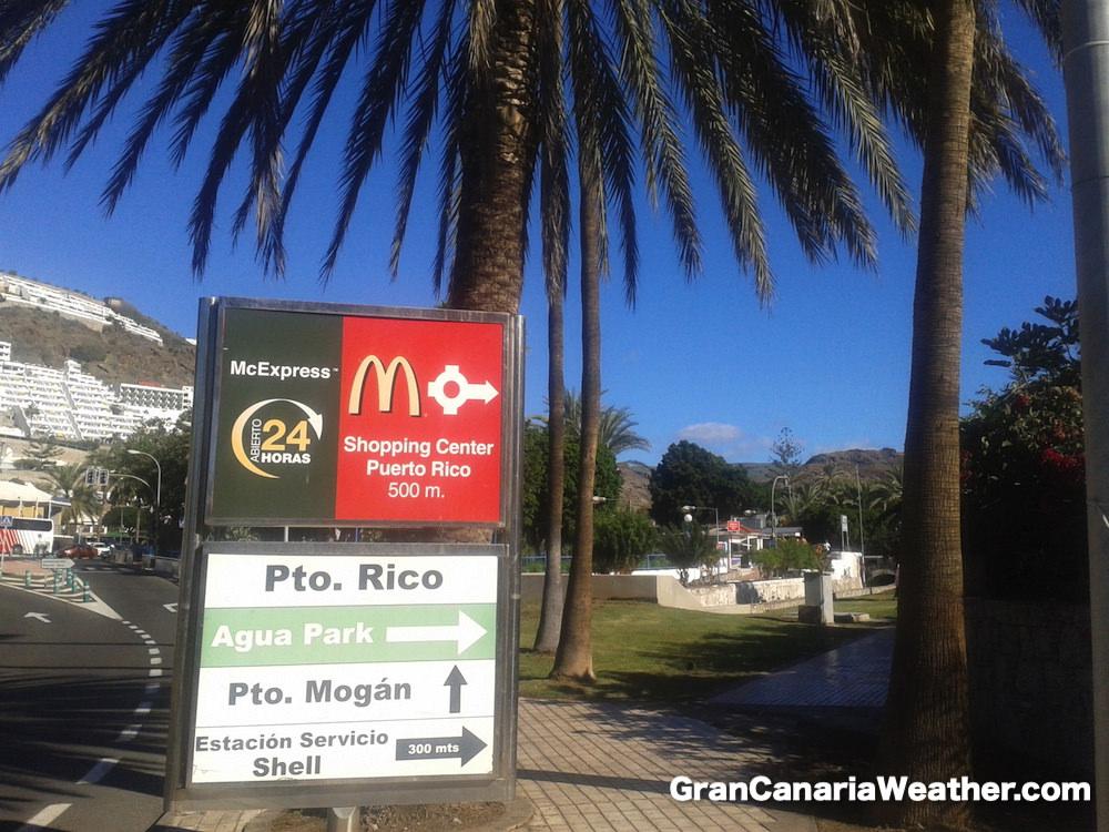 Gran Canaria Weather November Puerto Rico Old Sign 2012
