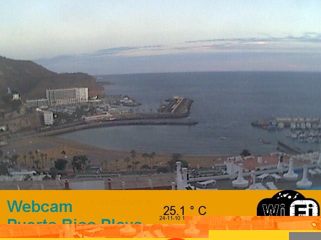 Gran Canaria Weather November Puerto Rico Webcam 2010