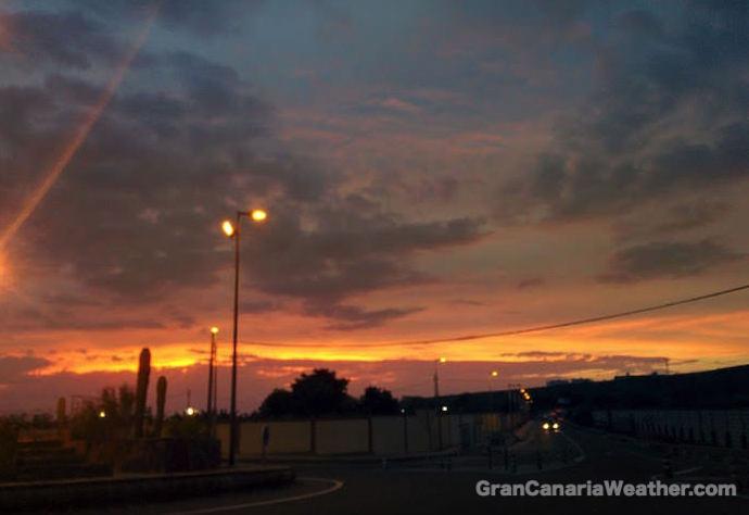 Gran Canaria Weather November Sunset 2015