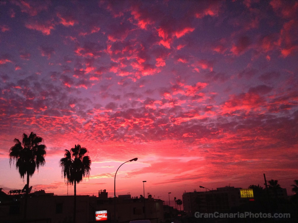 Pink Sunset Arguineguin Gran Canaria
