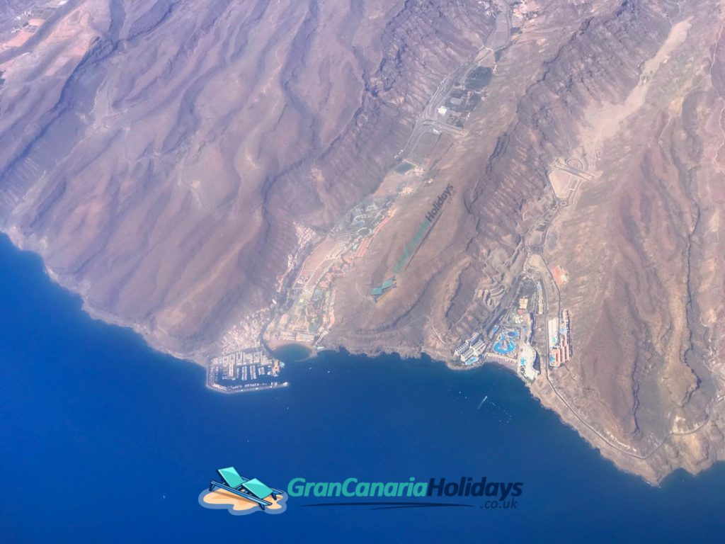 Mogan Taurito Birds Eye View Gran Canaria
