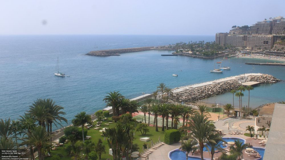 Gran Canaria Weather September 2021   View of Anfi from Radisson Blu